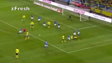 Resumen del triunfo de Suecia sobre Italia.