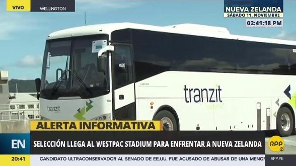 Revisa el momento en el que la Selección Peruana llega al Westpac Stadium.