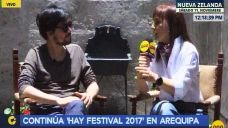 Juan Manuel Robles en el 'Hay Festival 2017'.