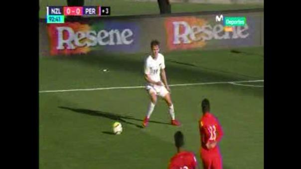 La verdadera postal del partido entre la Selección Peruana y Nueva Zelanda fue esta escena.