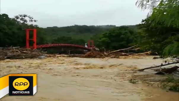 Incremento del caudal del río Cumbaza.