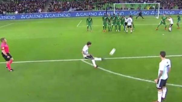 Así fue el gol de Banega ante Nigeria.