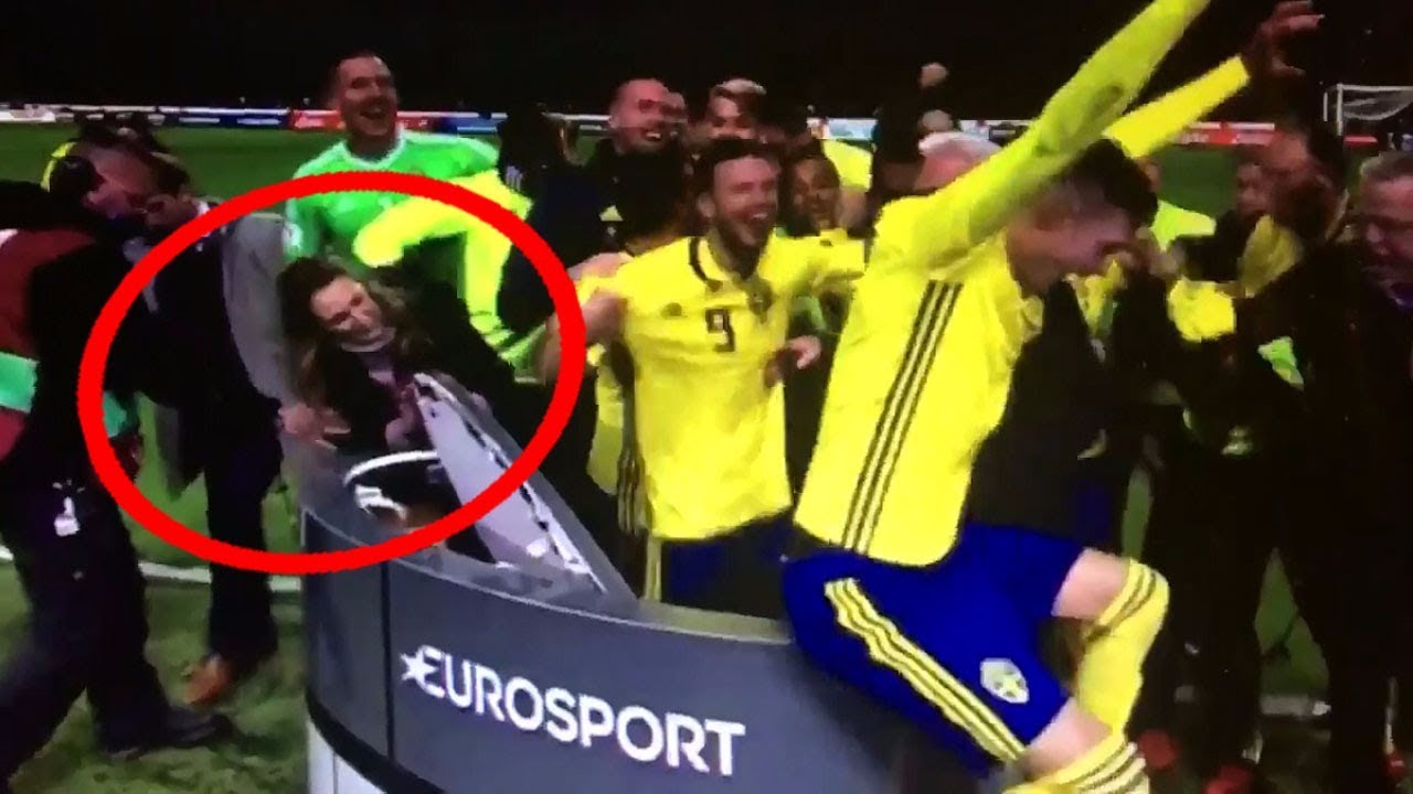 Así fue la celebración de los jugadores de Suecia.