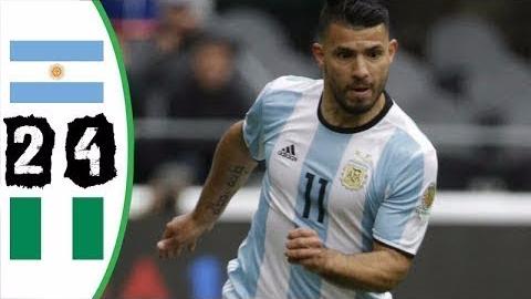 Los goles del Argentina vs. Nigeria.