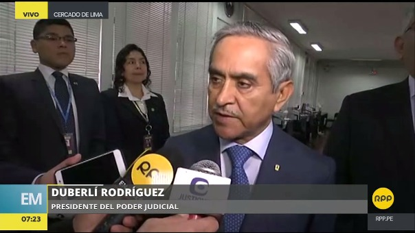 El presidente del Poder Judicial dijo que se tiene que comparar lo que dijeron PPK y Odebrecht.