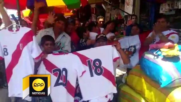 Celebración por pase de Perú al Mundial Rusia 2018.