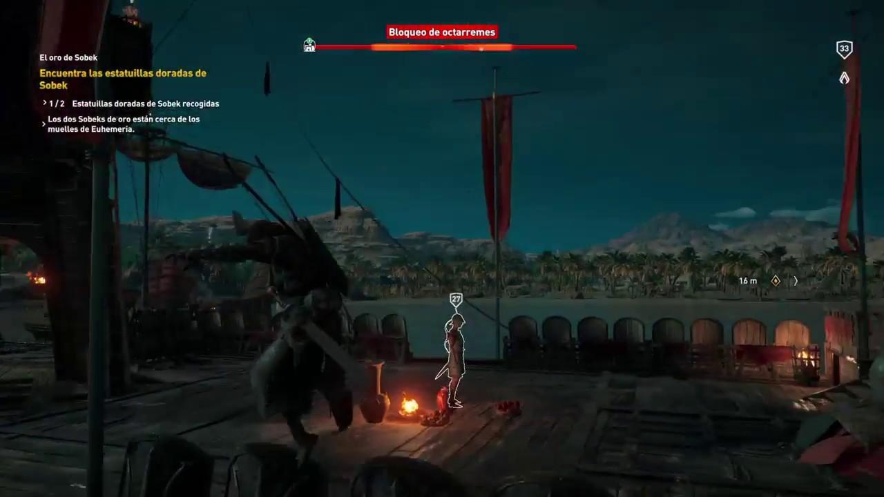 Los bugs no son ajenos a Assassin's Creed: Origins, como este que me obligó a reiniciar la partida.