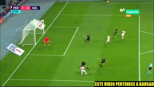 Jefferson Farfán metió el primer gol en la victoria 2-0 sobre Nueva Zelanda.