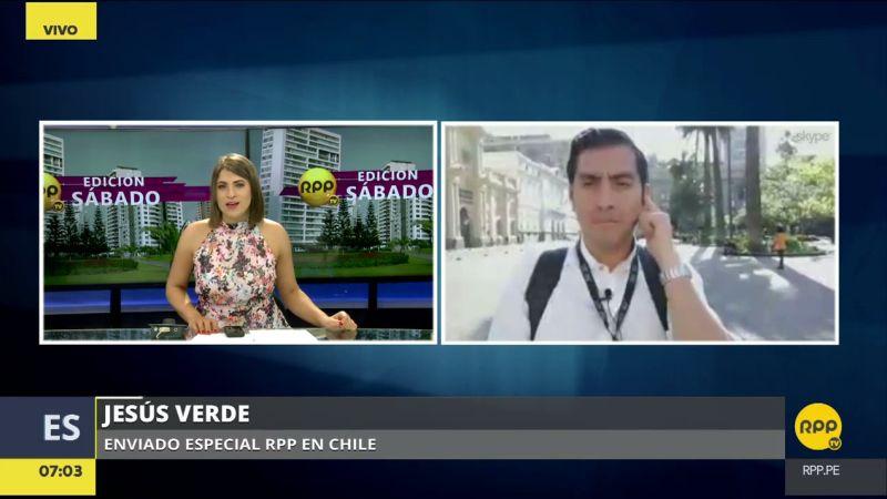 Jesús Verde, el enviado especial de RPP Noticias a Chile, realiza la cobertura desde el vecino país.