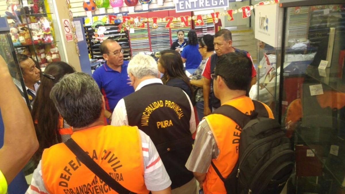 Defensa Civil y Municipalidad de Piura seguirán visitando locales comerciales.