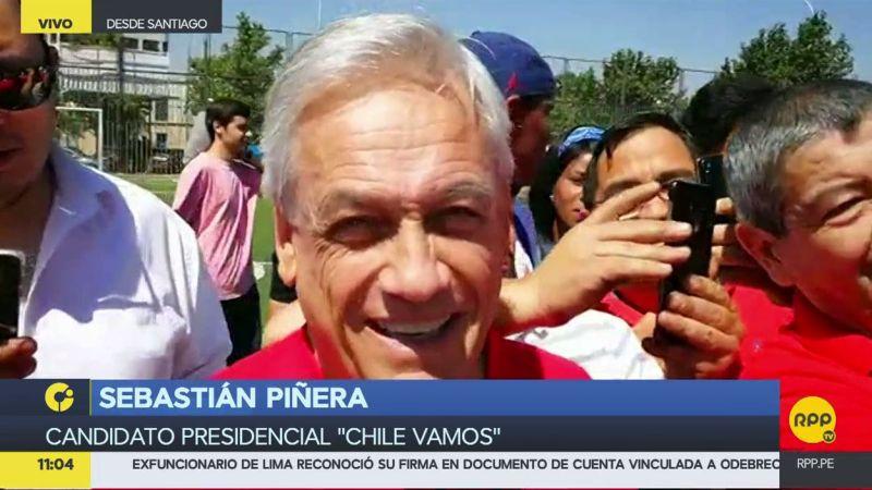 Sebastián Piñera dialogó en exclusiva con el enviado especial de RPP Noticias a Chile.