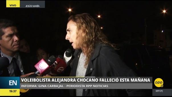 La entrenadora de vóley, Natalia Málaga, dijo estar consternada por la noticia del fallecimiento de la joven.