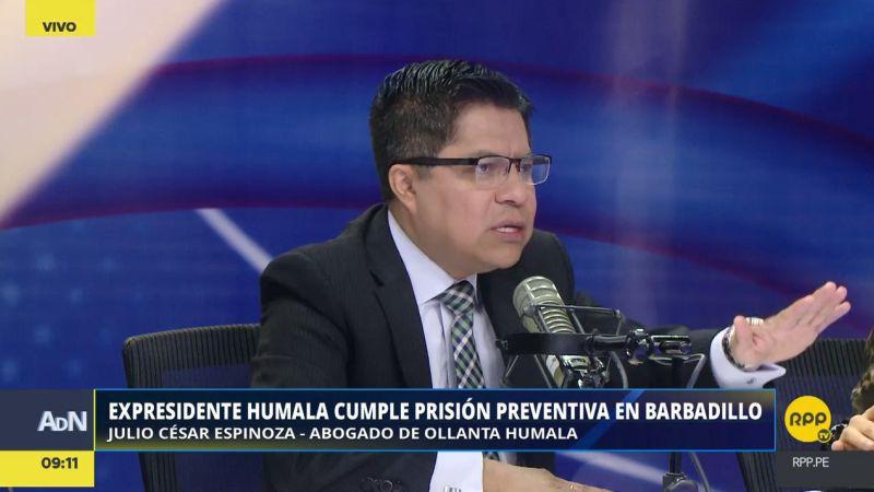 Julio César Espinoza aclaró que el recurso solo busca revertir la prisión preventiva contra Humala y Heredia.