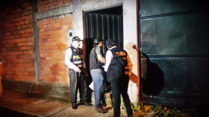 El operativo de la Fiscalía contó con el apoyo de la Policía Nacional.