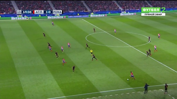 Atlético de Madrid 2-0 Roma.