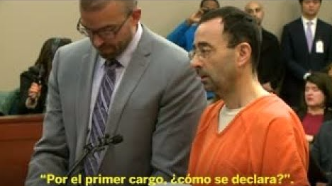 Larry Nassar se declaró culpable de los cargos de abuso sexual.