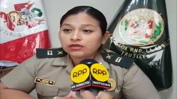 Teniente PNP María Ruiz Huamán, de la comisaría de la Familia de Trujillo.