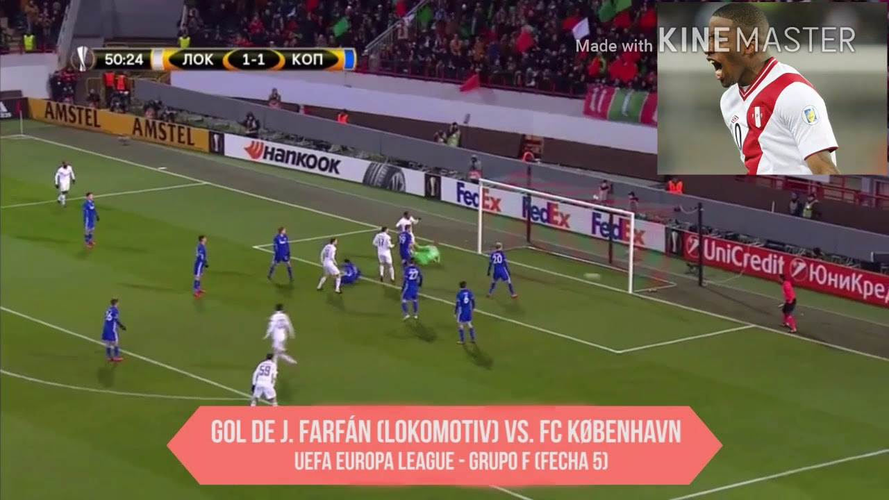 Revive el doblete de Jefferson Farfán con el Lokomotiv en la Europa League.