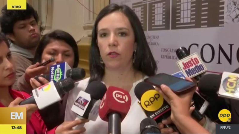 """""""Que se llegue a la verdad"""", exigió la congresista de Nuevo Perú."""