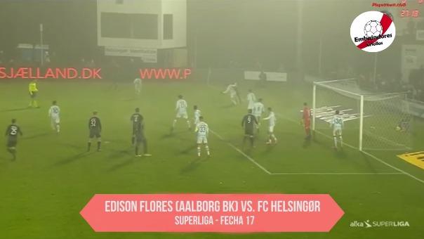 Revisa la jugada con Edison Flores como protagonista en el Aalborg BK.