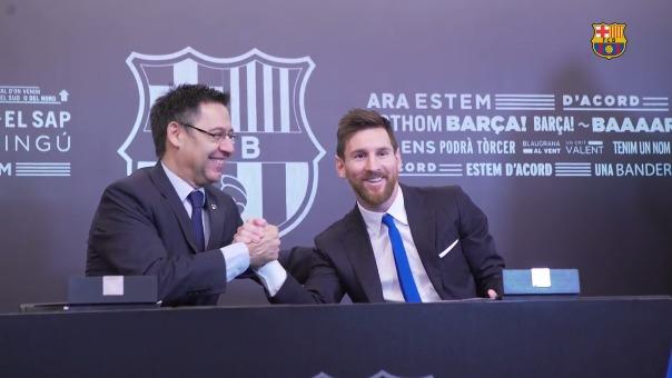 Barcelona publicó un video especial sobre cómo se dio la renovación del contrato de Messi.