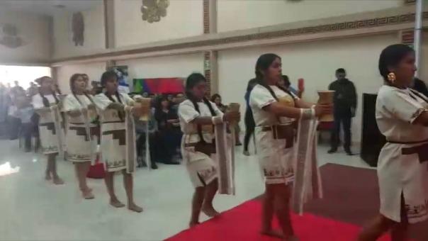 Señorita Iñikuk Eneida Chiscul Diaz natural del distrito de Reque.