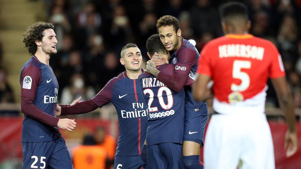 PSG venció 2-1 a Mónaco por la Ligue 1.