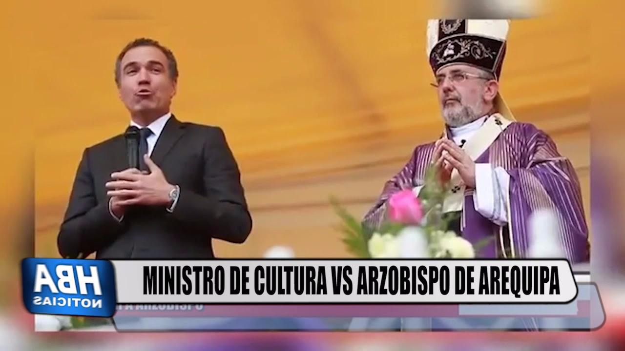 El intercambio entre el ministro de Cultura y el arzobispo de Arequipa.