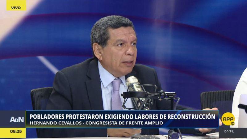 Hernando Cevallos se mostró confiado en que la moción de interpelación tenga el apoyo de otras bancadas.