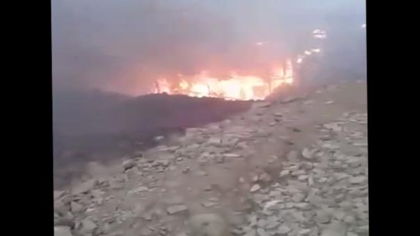 Incendio en Huaral.