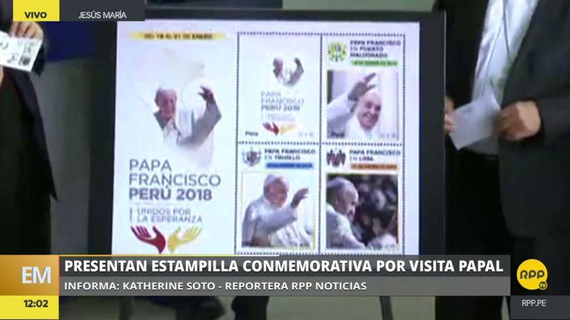 Así son la postal y las estampillas oficiales de la visita de Francisco.