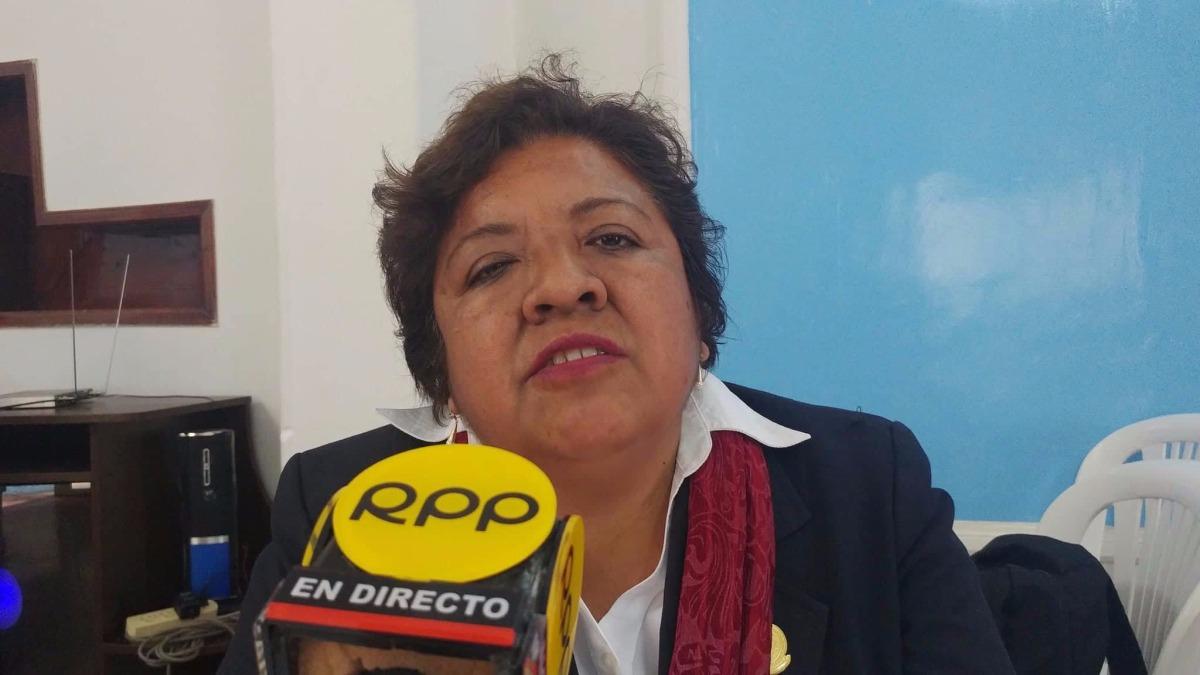 Representante de la gerencia regional de Salud, Rebeca Cumpa Suyón.