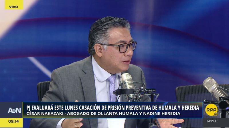 César Nakazaki aseguró que no hay razones jurídicas para mantener la prisión preventiva a Ollanta Humala y Nadine Heredia.