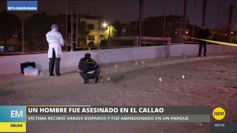 El joven fue asesinado en las inmediaciones del parque Las Tres Lozas, en la urbanización Santa Cruz del Callao.