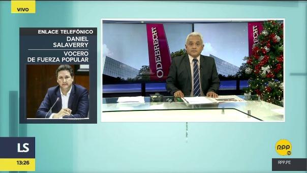 Daniel Salaverry conversó con RPP Noticias sobre la denuncia que presentó él, y que apoya su bancada, contra Pablo Sánchez.