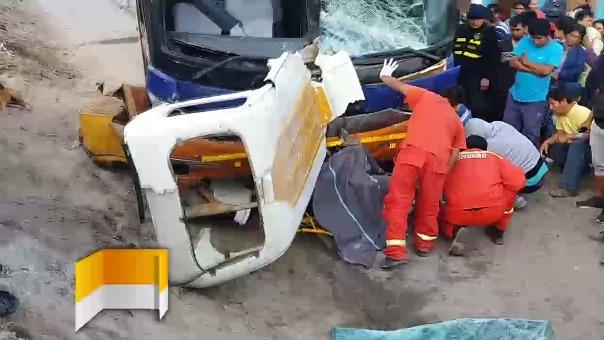 Accidente en Pisco.