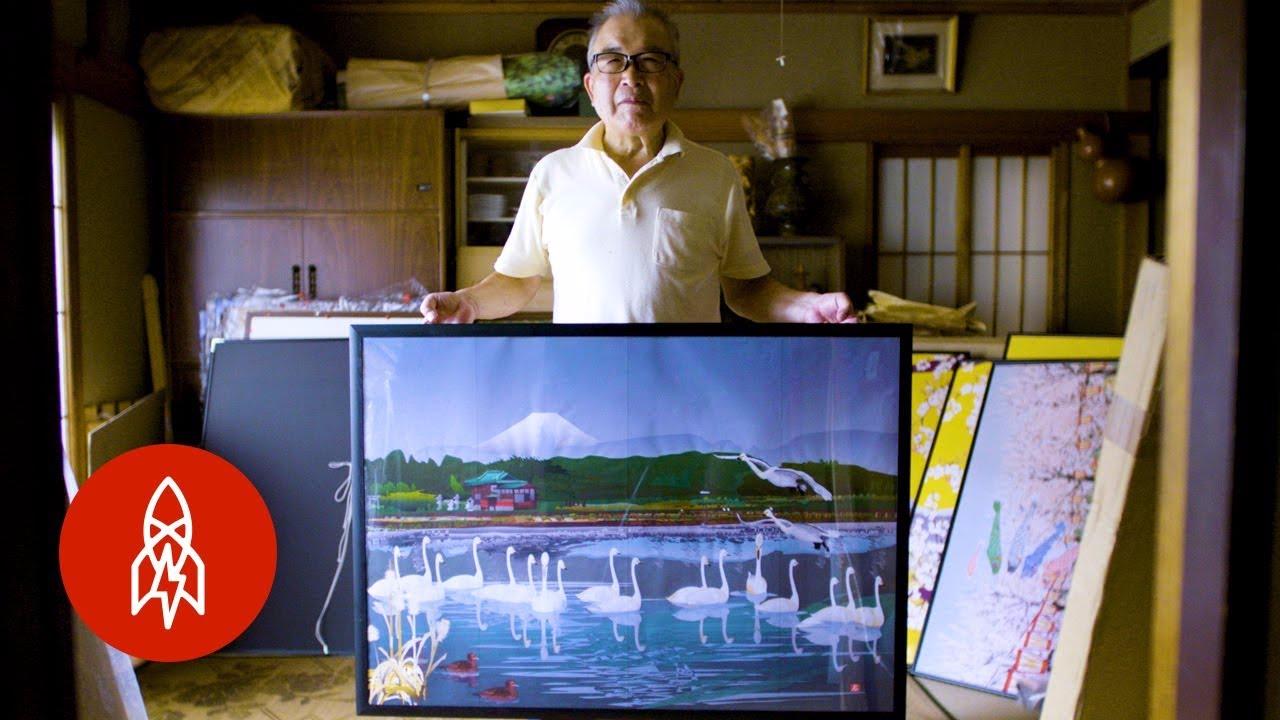 Los cuadros del hombre se exponen en galerías y pueden comprarse.