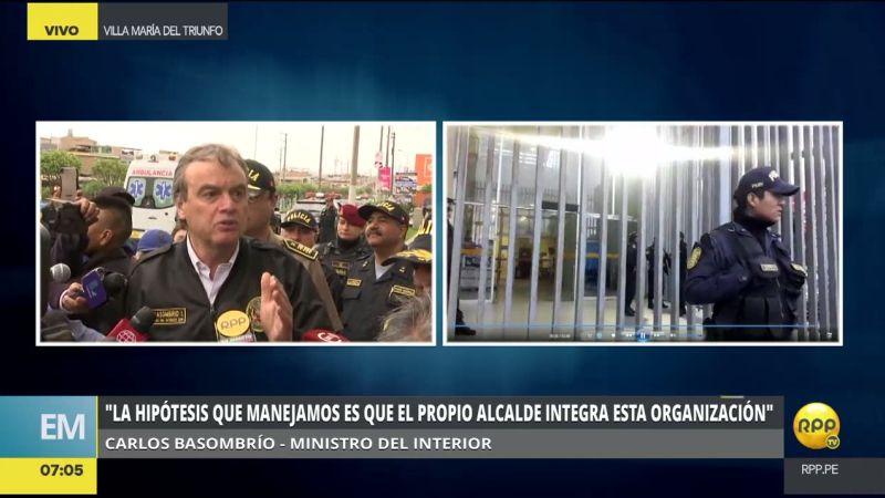 Carlos Basombrío alertó que las personas que no fueron detenidas pueden borrar pruebas o, peor aún, fugarse.