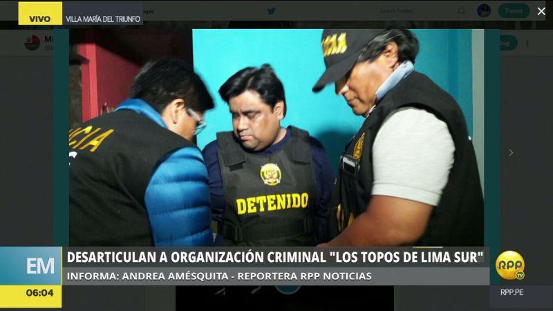 Entre los detenidos se encuentra Fortunato Chilingano Villanueva, hermano del alcalde interino Ángel Ignacio Chilingano Villanueva.