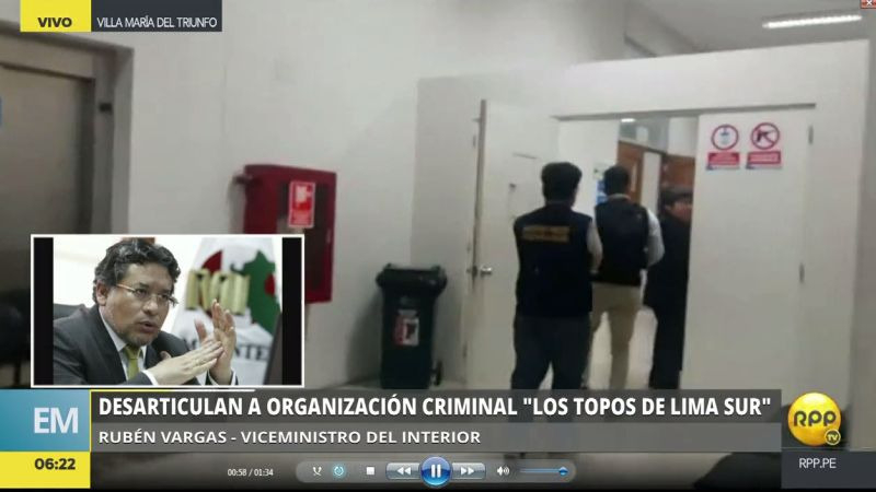 En este megaoperativo participaron 286 efectivos de la Policía y 25 representantes de la Fiscalía de la Nación.