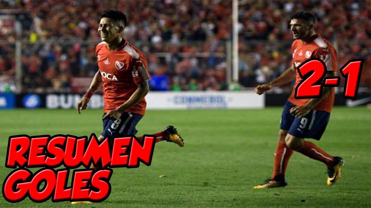 Resumen y goles del triunfo de Independiente sobre Flamengo.