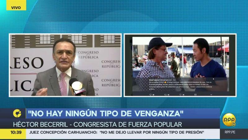 Héctor Becerril enfiló sus baterías contra el menor de los Fujimori.