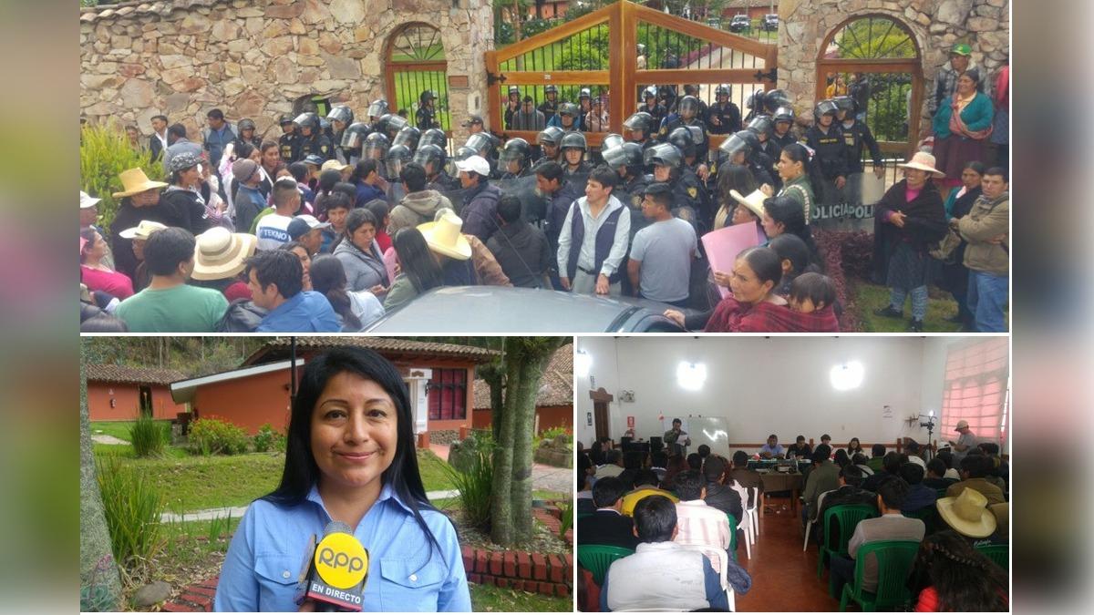 Protestantes pidieron reunión abierta, pero Proinversión aseguró que se acordó una reunion con dirigentes y asesores técnicos.