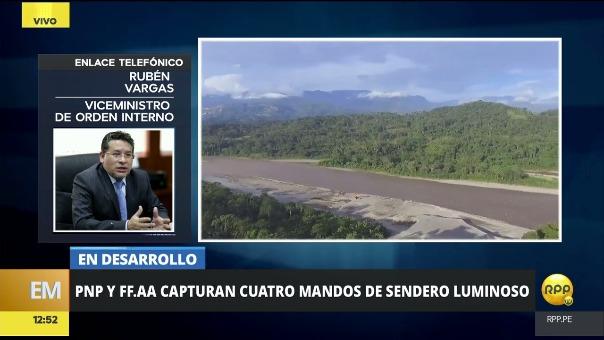 El viceministro Rubén Vargas contó detalles del operativo Aniversario.