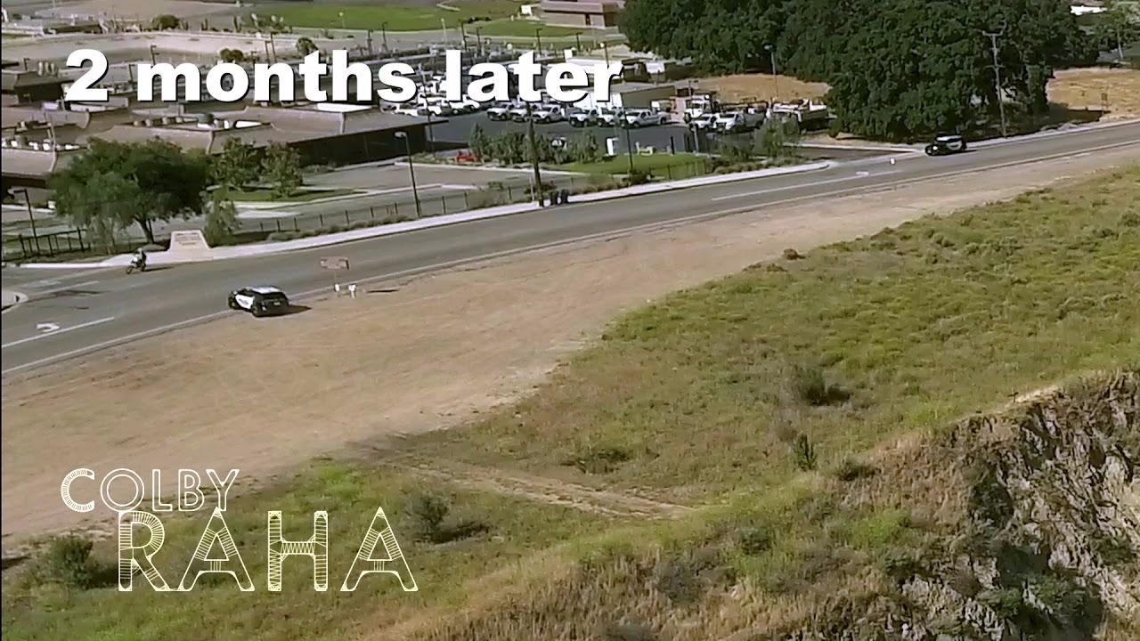 Colby Raha supera a la Policía y hace un arriesgado salto sobre las vías del tren