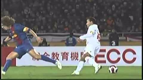 Final del Mundial de Clubes 2006: Internacional 1-0 Barcelona.