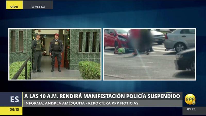 Carlos Suta Vela golpeó a una colega policía que lo intervino por ocasionar un accidente de tránsito.