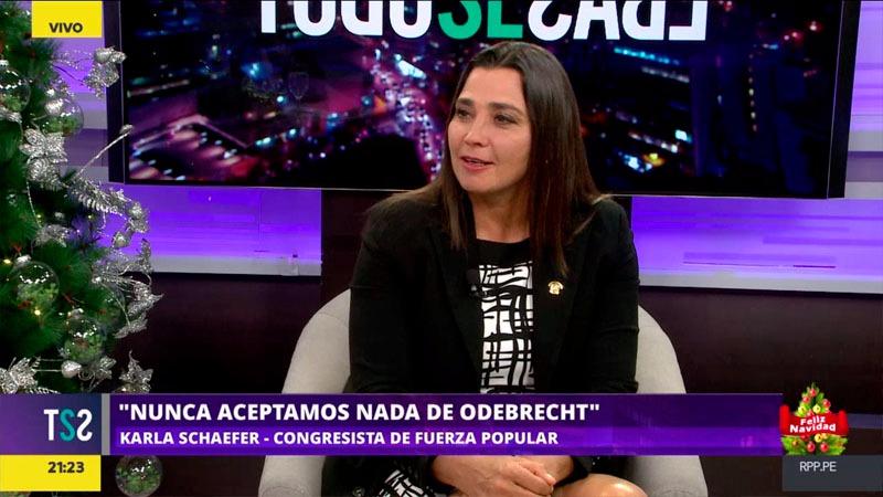 La congresista de Fuerza Popular dijo estar cansada de las acusaciones y pidió al exdirectivo de Odebrecht, Jorge Barata que diga la verdad.