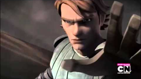 Aquí un enfrentamiento entre Asajj y Anakin.