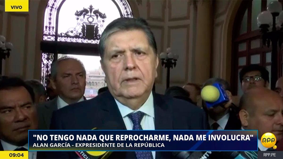 Alan García responderá ante la comisión Lava Jato.